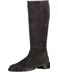 dunkelbraune kniehohe Stiefel aus Wildleder von Högl