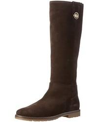 dunkelbraune kniehohe Stiefel von Tommy Hilfiger