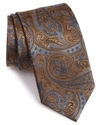 dunkelbraune Krawatte mit Paisley-Muster
