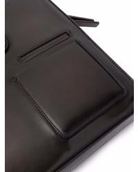 dunkelbraune Leder Aktentasche von Ermenegildo Zegna