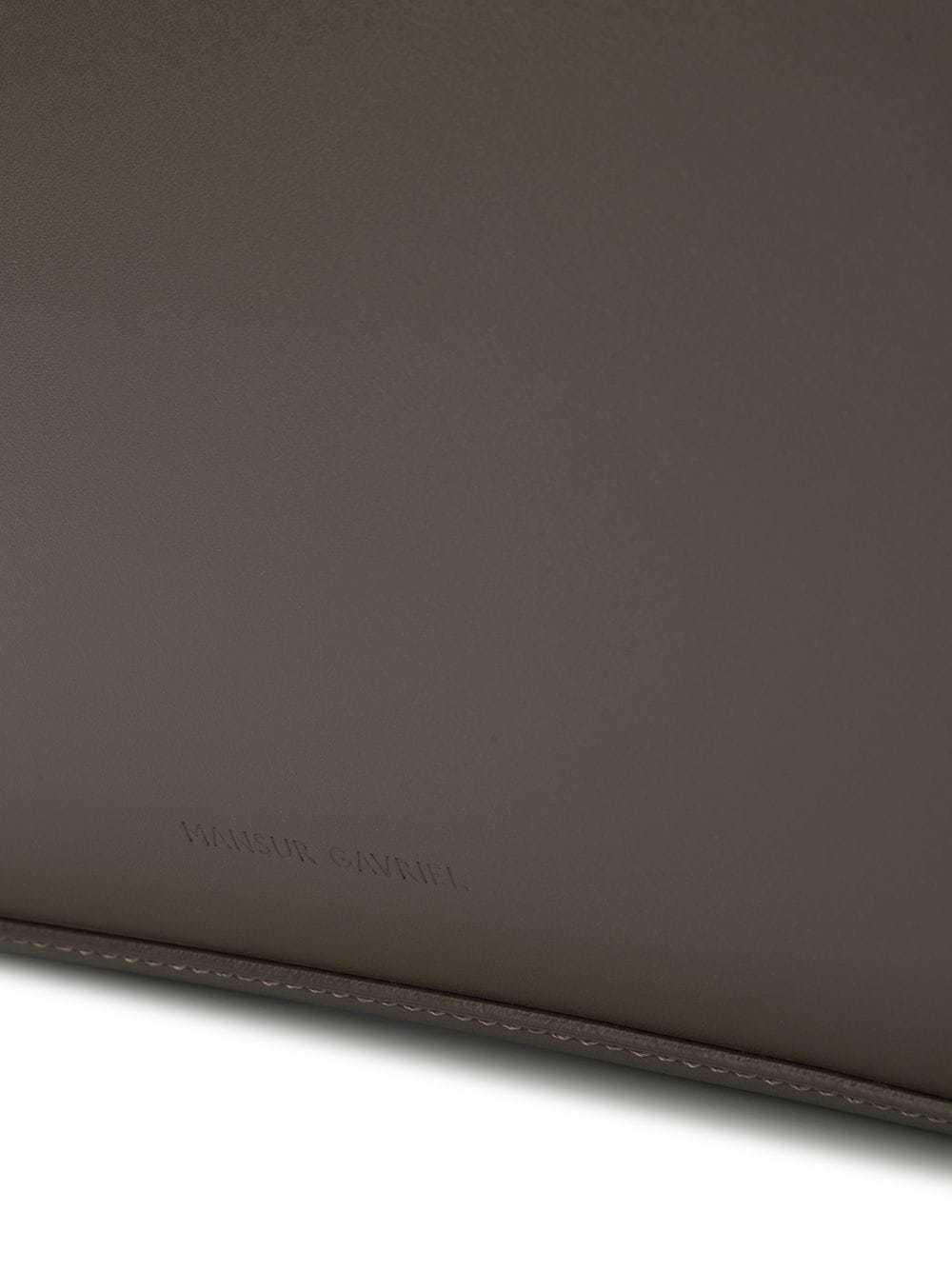 dunkelbraune Leder Aktentasche von Mansur Gavriel