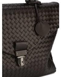 dunkelbraune Leder Aktentasche von Bottega Veneta