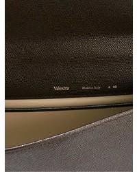 dunkelbraune Leder Aktentasche von Valextra