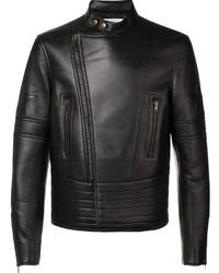 dunkelbraune Leder Bikerjacke von Givenchy