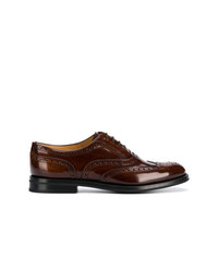 dunkelbraune Leder Brogues von Church's