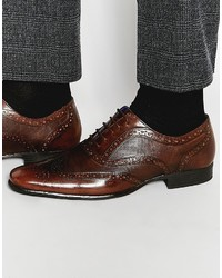 dunkelbraune Leder Brogues von Red Tape