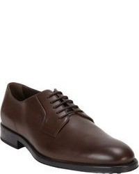dunkelbraune Leder Derby Schuhe