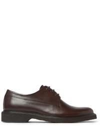 dunkelbraune Leder Derby Schuhe von A.P.C.