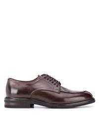 dunkelbraune Leder Derby Schuhe von Brunello Cucinelli