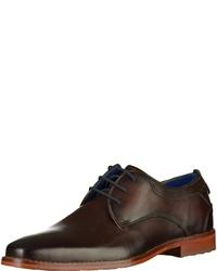 dunkelbraune Leder Derby Schuhe von Bugatti
