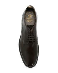 dunkelbraune Leder Derby Schuhe von Officine Creative
