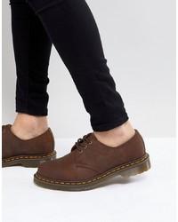 dunkelbraune Leder Derby Schuhe von Dr. Martens