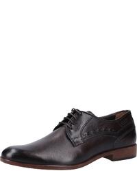 dunkelbraune Leder Derby Schuhe von FRETZ men