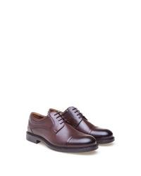 dunkelbraune Leder Derby Schuhe von Greyder