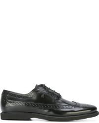 dunkelbraune Leder Derby Schuhe von Hogan