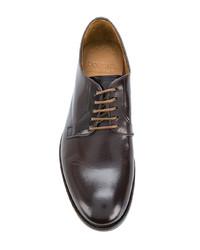 dunkelbraune Leder Derby Schuhe von Doucal's