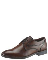 dunkelbraune Leder Derby Schuhe von Lloyd