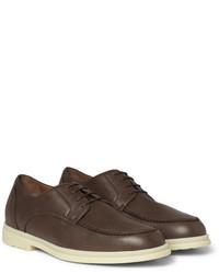 dunkelbraune Leder Derby Schuhe von Loro Piana
