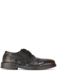 Dunkelbraune Leder Derby Schuhe von Marsèll