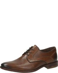 dunkelbraune Leder Derby Schuhe von Mercedes