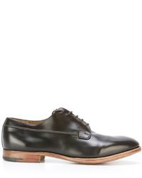 dunkelbraune Leder Derby Schuhe von Premiata