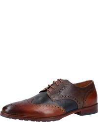dunkelbraune Leder Derby Schuhe von Salamander