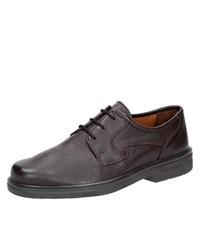dunkelbraune Leder Derby Schuhe von Sioux