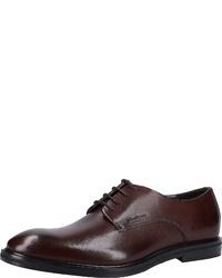 dunkelbraune Leder Derby Schuhe von Strellson