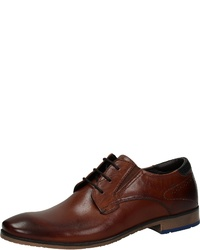 dunkelbraune Leder Derby Schuhe von Venturini