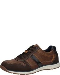 dunkelbraune Leder niedrige Sneakers von Bama