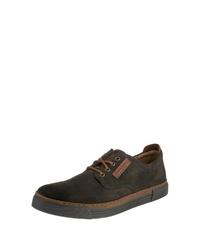 dunkelbraune Leder niedrige Sneakers von camel active