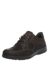 dunkelbraune Leder niedrige Sneakers von Jomos