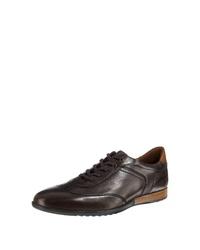 dunkelbraune Leder niedrige Sneakers von Lloyd