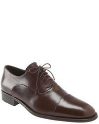 dunkelbraune Leder Oxford Schuhe