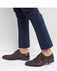 dunkelbraune Leder Oxford Schuhe von ASOS DESIGN