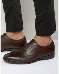Dunkelbraune Leder Oxford Schuhe von Base London