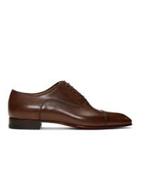 dunkelbraune Leder Oxford Schuhe von Christian Louboutin