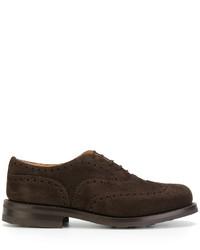 dunkelbraune Leder Oxford Schuhe von Church's