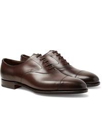 dunkelbraune Leder Oxford Schuhe von Edward Green