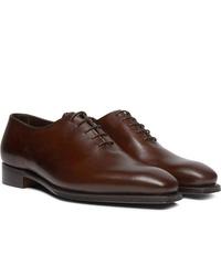 dunkelbraune Leder Oxford Schuhe von George Cleverley