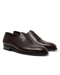 dunkelbraune Leder Oxford Schuhe von J.M. Weston