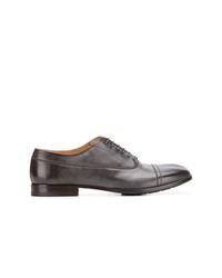 dunkelbraune Leder Oxford Schuhe von Maison Margiela