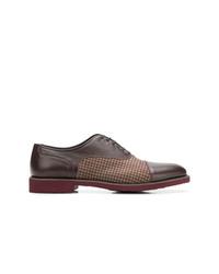 dunkelbraune Leder Oxford Schuhe von Moreschi