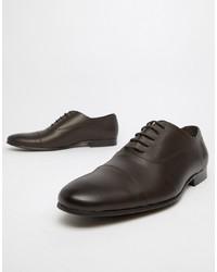 dunkelbraune Leder Oxford Schuhe von Office
