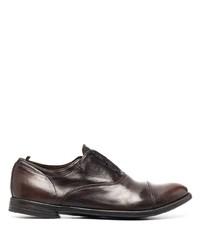 dunkelbraune Leder Oxford Schuhe von Officine Creative