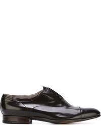 Dunkelbraune Leder Oxford Schuhe von Premiata