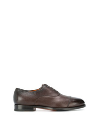dunkelbraune Leder Oxford Schuhe von Santoni