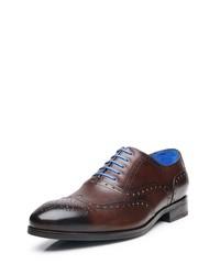 dunkelbraune Leder Oxford Schuhe von SHOEPASSION