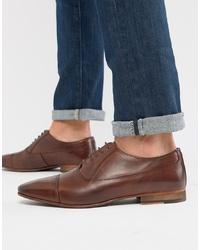 dunkelbraune Leder Oxford Schuhe von WALK LONDON