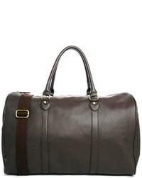dunkelbraune Leder Reisetasche von Asos